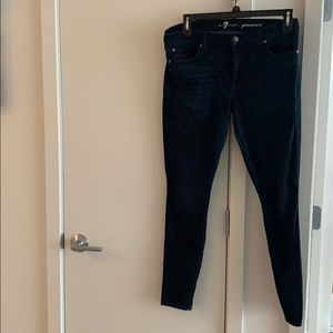7 for all Mankind Dark Skinny Jeans